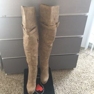 Luichiny over the knee tan boots